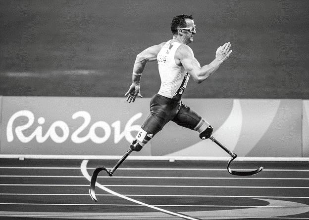 Un coureur handicapé