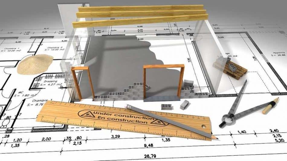 Dessin et plan d'un architecte de Rennes